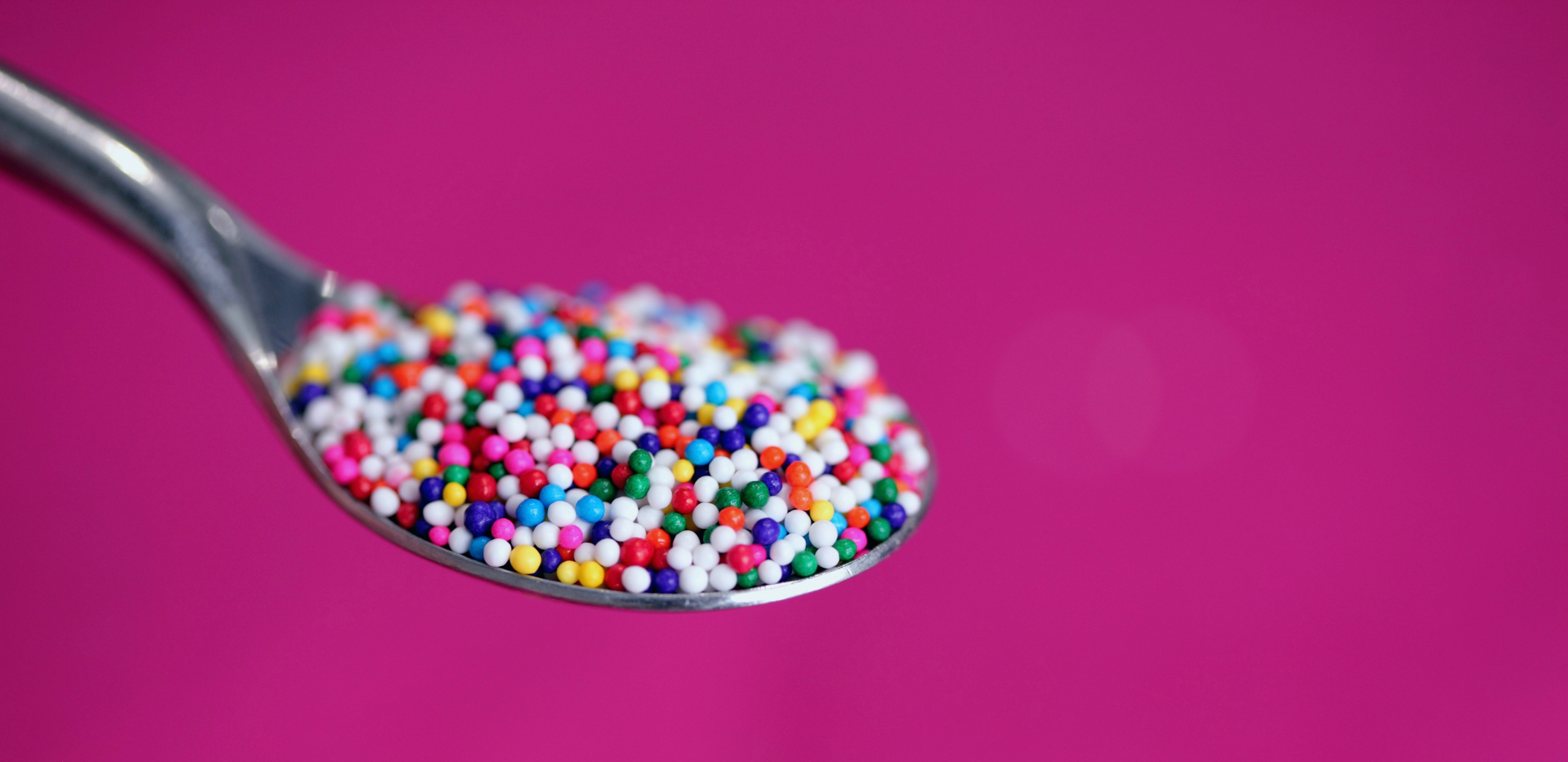 spoon with sprinkles