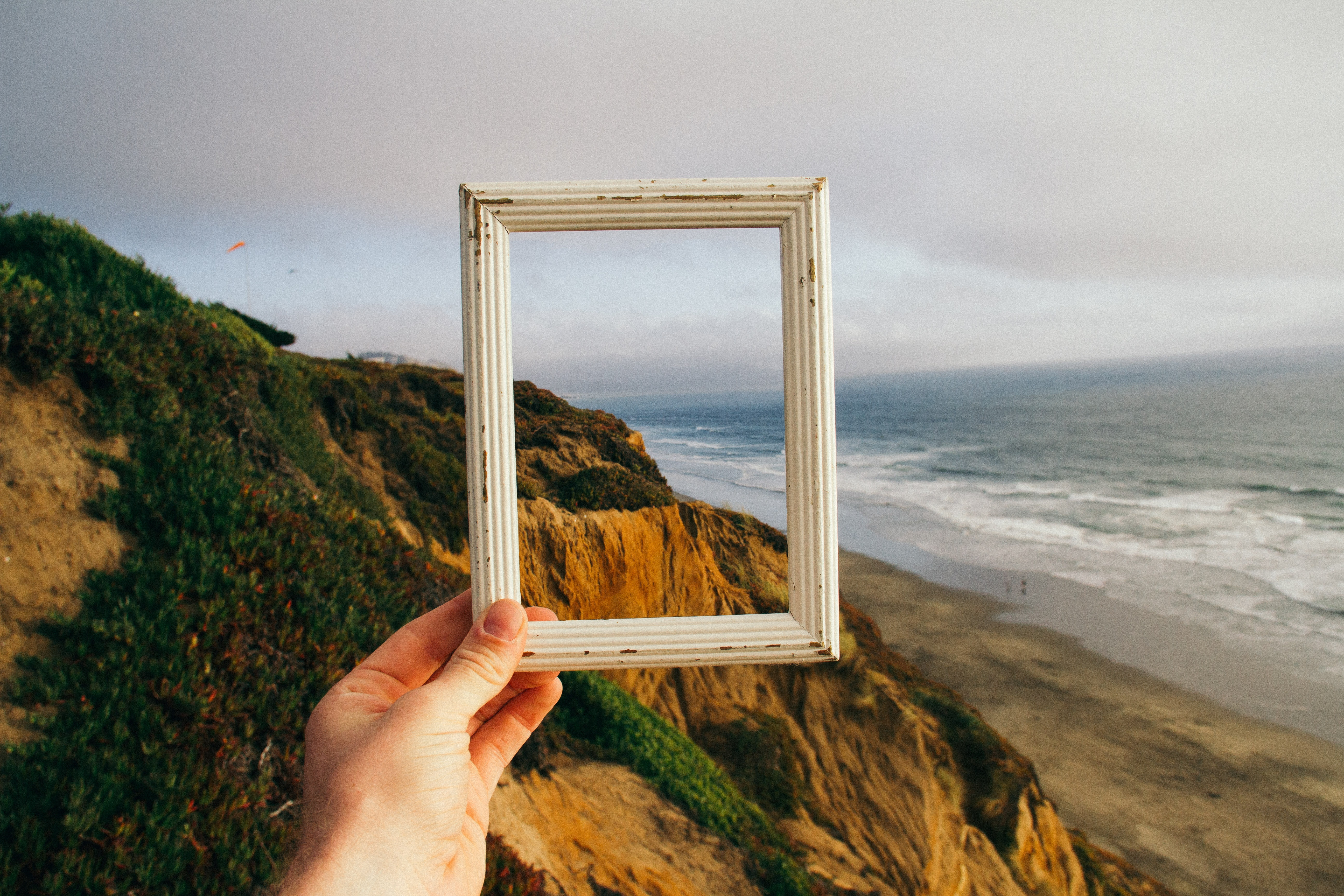 frame in front of landscape